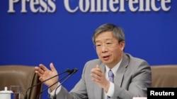 中国人民银行行长易纲2019年3月10日在北京人大会堂举行的全国人大记者会上.