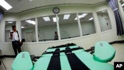 Une chaise utlisée pour la mise à mort des condamnées, en Californie.