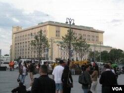 克格勃長期策劃散佈假消息。位於莫斯科市中心的前克格勃總部大樓,目前是俄羅斯聯邦安全局所在地。2018年7月。