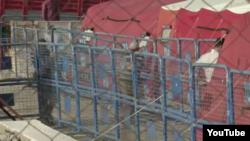Dikili'de mültecilerin karşılanması için çadırlan hazırlandı