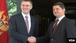 Crnogorski i rumunski šefovi diplomatija pred sastanak u Podgorici, 4. jul 2013.