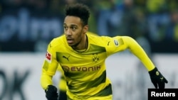 Pierre-Emerick Aubameyang alors au Borussia Dortmund, 27 janvier 2018.