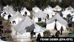 BOSNIA-HERZEGOVINA - Migrants at camp 'Vučjak' in Bihać, Bosnia and Herzegovina, 25 October 2019