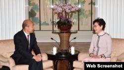 香港特首林郑月娥2019年3月22日会晤台湾高雄市长韩国瑜 (香港特区行政长官办公室网站)