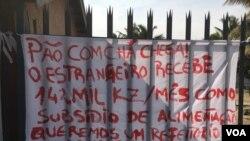 Angola Benguela trabalhadores da XADU em greve