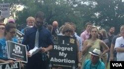 反堕胎人士在国会山集会。(美国之音杨晨拍摄)