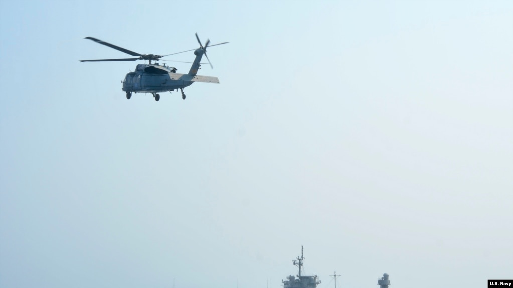 Tàu USS Blue Ridge của Mỹ trên Biển Đông South China Sea hồi tháng 4 năm 2019