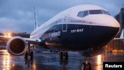 Một chiếc Boeing 737 MAX 8 được triển lãm tại nhà máy của hãng ở Renton, gần thủ đô Washington, Hoa Kỳ.