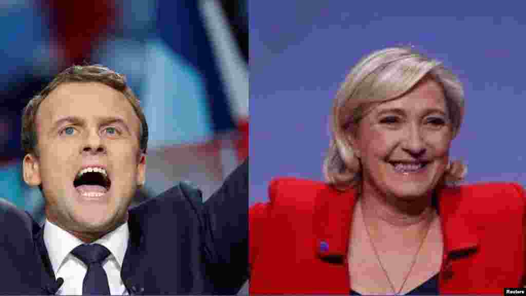Emmanuel Macron se qualifie avec 23,90% des voix face à Marine Le Pen (21,70%), ils s'affronteront au deuxieme tour le 7 mai 2017.