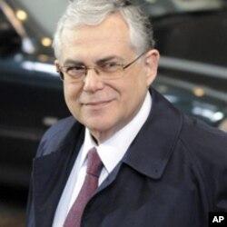 希臘總理帕帕季莫斯在布魯塞爾出席歐盟峰會