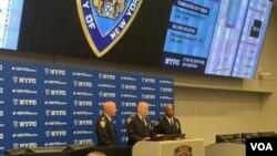 El Departamento de Policía de Nueva York (NYPD) ofreció detalles sobre la seguridad que ha montado para el desfile por el Día de Acción de Gracias de 2019. Foto: [Ronen Suarc/VOA.]