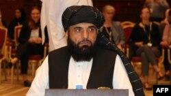 سهیل شاهین سخنگوی گروه طالبان در دوحه پایتخت قطر است