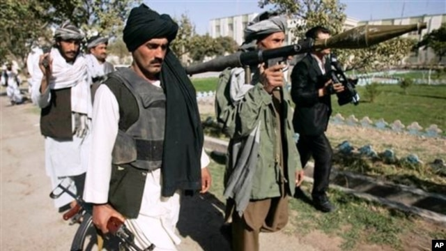 Afghan Taliban fighters (file photo)