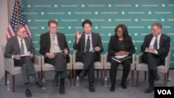 5일 미국 워싱턴의 민간단체인 허드슨연구소에서 `사이버 도전: 인터넷과 세계 경쟁, 그리고 국가안보'를 주제로 토론회가 열렸다.