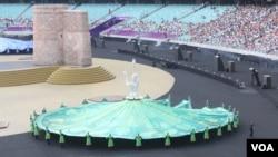 baku 2015 Avropa oyunlarının bağlanış mərasimi olub