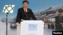 Ông Tập Cận Bình phát biểu tại Hội nghị Internet Thế giới ở thành phố Wuzhen, miền đông Trung Quốc, ngày 16/12/2015.