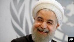 عکس آرشیوی از حسن روحانی رئیس جمهوری ایران در حاشیه نشست سالانه مجمع عمومی سازمان ملل متحد در نیویورک - ۴ مهر ۱۳۹۴