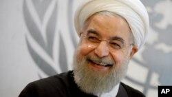 Presiden Iran Hassan Rouhani saat menghadiri Sidang Majelis Umum PBB di New York, 26 September 2015 (Foto: dok).