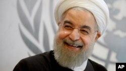 Presiden Iran Hassan Rouhani menghadiri sidang umum PBB di New York (26/9).