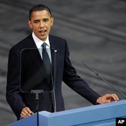 美国总统奥巴马在接受诺贝尔和平奖时发表感言