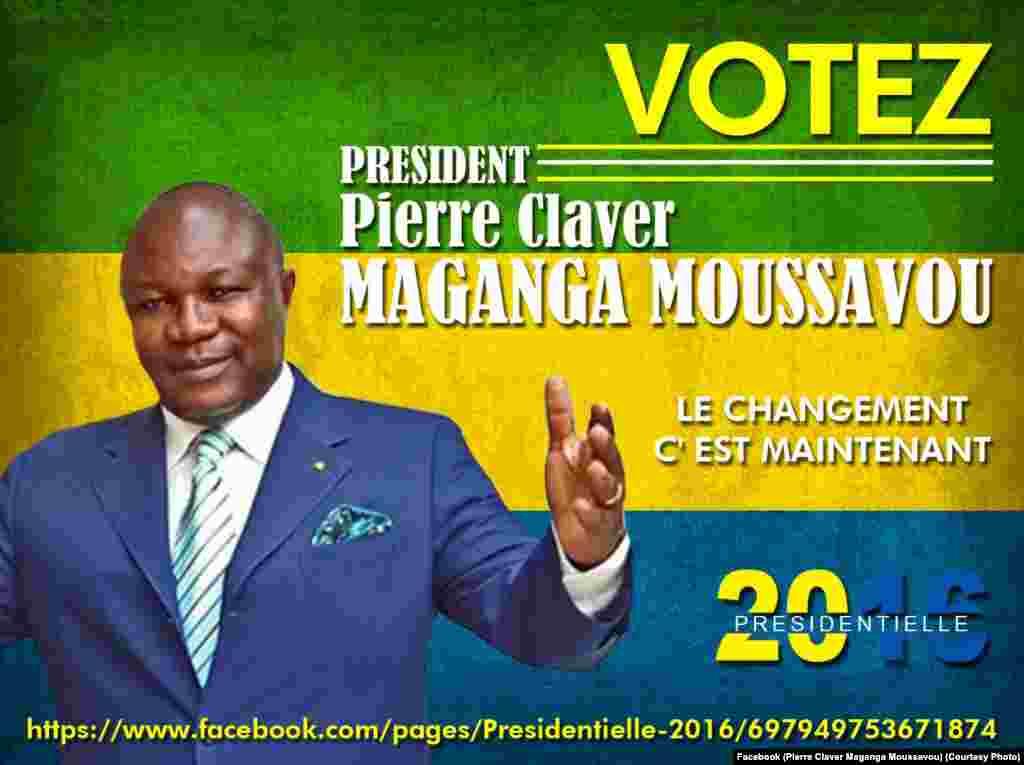 Pierre Claver Maganga Moussavou, candidat malheureux en1993, 1998 et 2009. Le maire de Mouila est à nouveau candidat pour l'élection de 2016.