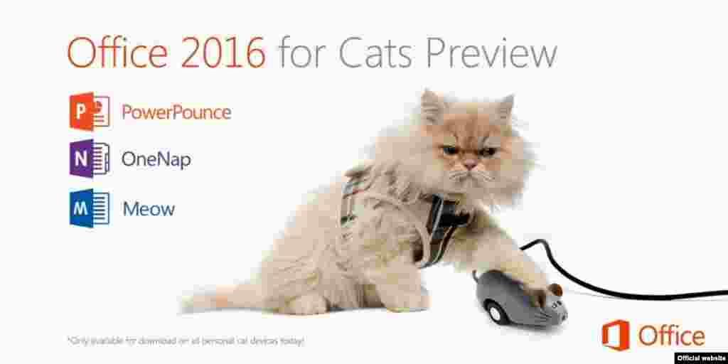 Não faltaram empresas que anunciaram versões produtos para animais, mas a Microsoft foi uma das melhores, anunciando programas completos com um rato para seu animal de estimação.