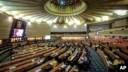 Phòng họp của quốc hội Thái Lan ở Bangkok (ảnh tư liệu, tháng 1/2018)