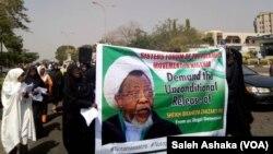 ABUJA: Mata 'yan shiya sun zanga zanga domin a sako shugabansu, Shaikh Ibrahim El-zakzaky