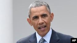 바락 오바마 미국 대통령이 지난 2일 백악관에서 이란 핵 협상에 관한 입장을 밝히고 있다.