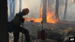 Firefighters Battle Massive California Wildfire