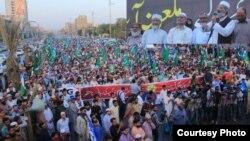 جماعت اسلامی کے زیر اہتمام کراچی میں آسیہ بی بی کی رہائی کے فیصلے کے خلاف مارچ