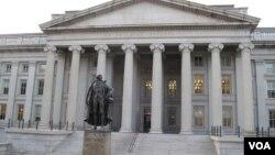 位于首都华盛顿的美国财政部大楼