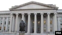 Kantor Departemen Keuangan AS (foto: dok). Depkeu AS mengumumkan sanksi terhadap 14 orang terkait pemberontak Ukraina.