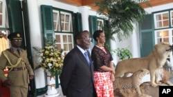Zimbabwe President Mugabe and First Lady, Grace Mugabe