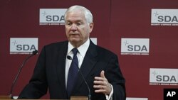 美國國防部長蓋茨星期五在布魯塞爾發表講話