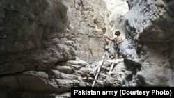 Pakistan's army released the following picture to media of what it says is the cave in Mastung where militants were holed up.
