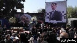 عکسی از مراسم یکشنبه صبح در تهران.