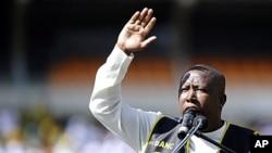 Julius Malema, tokoh pemuda Afrika Selatan, yang dipecat dari partai Kongres Nasional Afrika (ANC) yang berkuasa.