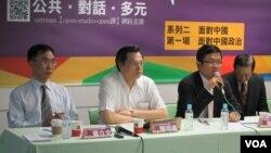 民进党举办面对中国座谈会(VOA记者张永泰拍摄)