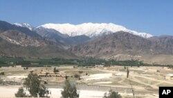 Une vue générale du district d'Achin sur lequel les forces américaines ont largué la méga-bombe, Afghanistan, le 14 avril 2017.
