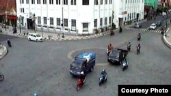 Foto titik nol kilometer kota Yogya diambil dari kamera lalu lintas Pemda DIY. (Foto: Pemda DIY)