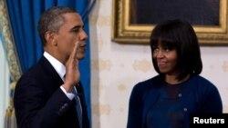 Le président Obama a prêté serment en privé à la Maison Blanche.