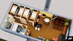 This artist rendering released by Vivos, an underground shelter network, shows a design for an underground bunker.