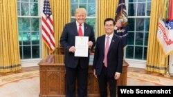 特朗普总统接受越南驻美大使何金玉递交国书(2018年9月17日)