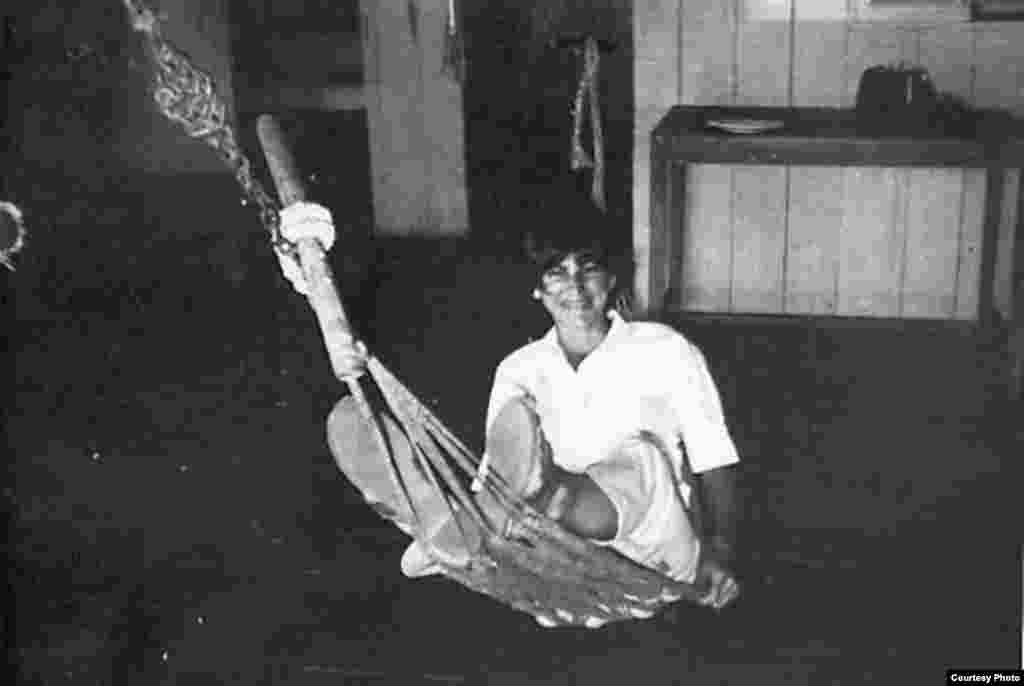 Kate Webb sitting on a hammock. (Sylvana Foa/Documentation Center of Cambodia)