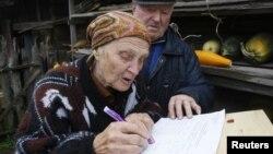 Cử tri Belarus đi bầu tại Minsk, ngày 23/9/2102