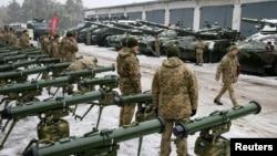 یوکرین میں ہتھیاروں کی نمائش۔ 15 نومبر 2018