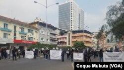 Magistrados judiciais e do Ministério Público protestam em Luanda, 31 de Julho 2021