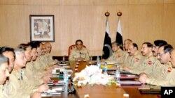 جنرل اشفاق پرویز کیانی کی زیر صدارت کور کمانڈرز اجلاس