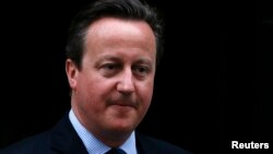 Firayim Ministan Birtaniya David Cameron leaves